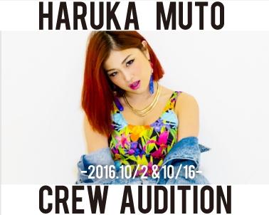 10/2&10/16 《HARUKA MUTO》crewメンバーオーディション開催決定!!